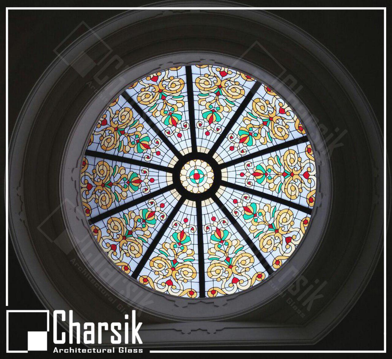 شیشه خم تزئینی