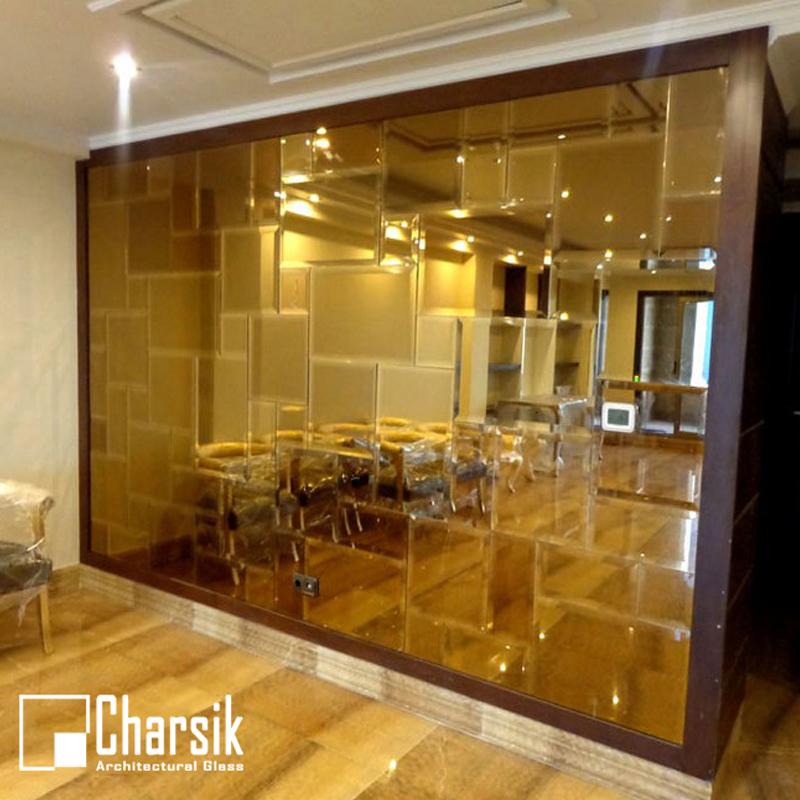 آینه تراشدار دیواری. طرح کندوی چارسیک (3)