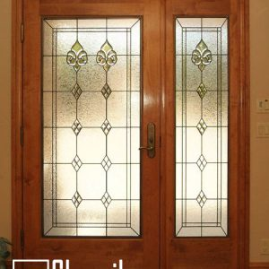شیشه دکوراتیو درب ورودی، کد D09