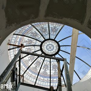 سقف شیشه ای راه پله نورگیر سقفی گنبد شیشه ای