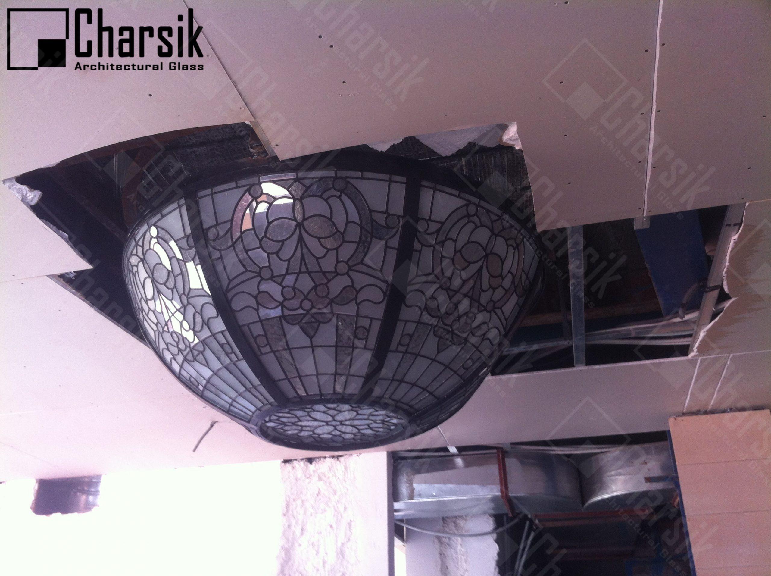 گنبد شیشه ای نورگیر سقفی تزئینی