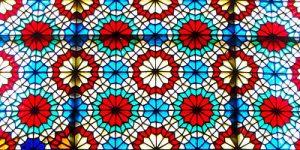 باغ دولت آباد. شیشه رنگی