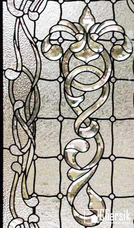 شیشه دکوراتیو پنجره، کد W17