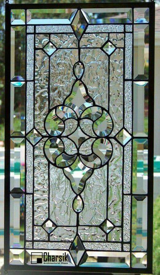 شیشه دکوراتیو پنجره، کد W07