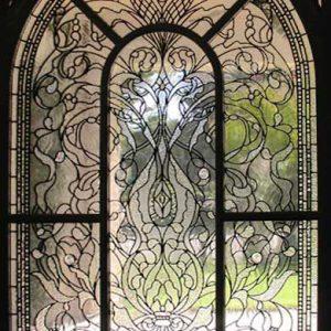 شیشه دکوراتیو پنجره، کد W08