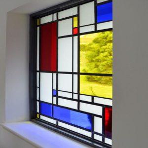 شیشه دکوراتیو پنجره، کد W10