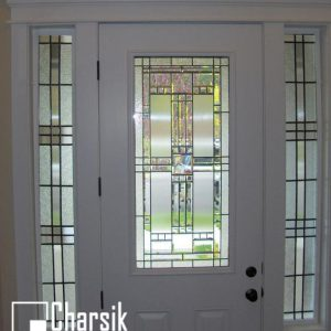 شیشه دکوراتیو درب ورودی، کد D13