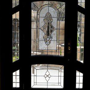 شیشه دکوراتیو درب ورودی کد D14