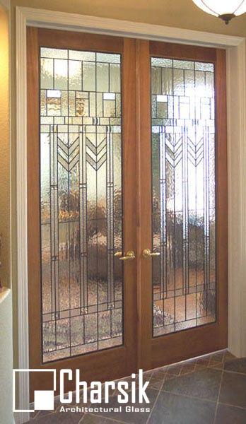 شیشه دکوراتیو درب ورودی، کد D20
