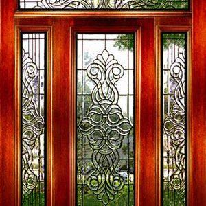 شیشه دکوراتیو درب ورودی، کد D21