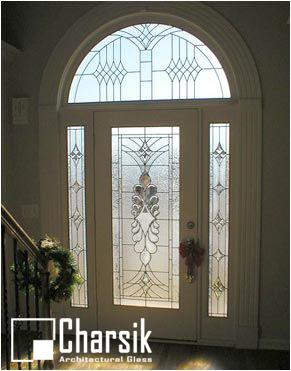شیشه دکوراتیو درب ورودی، کد D22