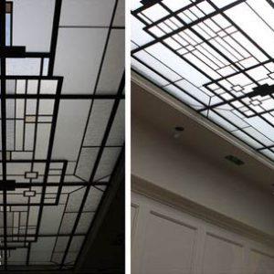 سقف شیشه ای، طرح مشبک چارسیک