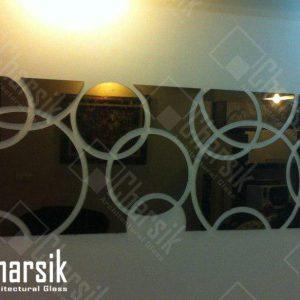 آینه دیواری طرح دایره چارسیک