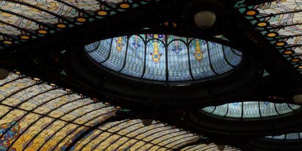 گنبد شیشه ای تیفانی در هتل سیداد، مکزیکو سیتی