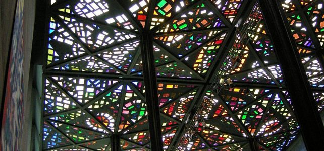 نورگیر سقفی استیند گلس در گالری ملی ویکتوریا، ملبورن