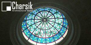 گنبد شیشه ای رنگی