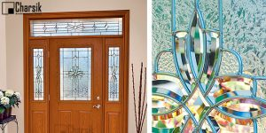 شیشه درب ورودی