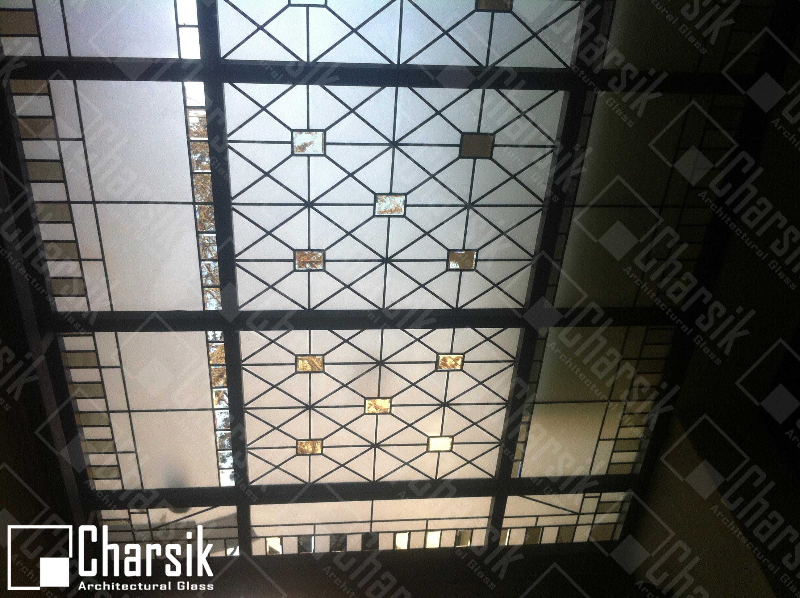 سقف نورگیر شیشه ای استیند گلس ولنجک. نورگیر سقفی لوکس چارسیک
