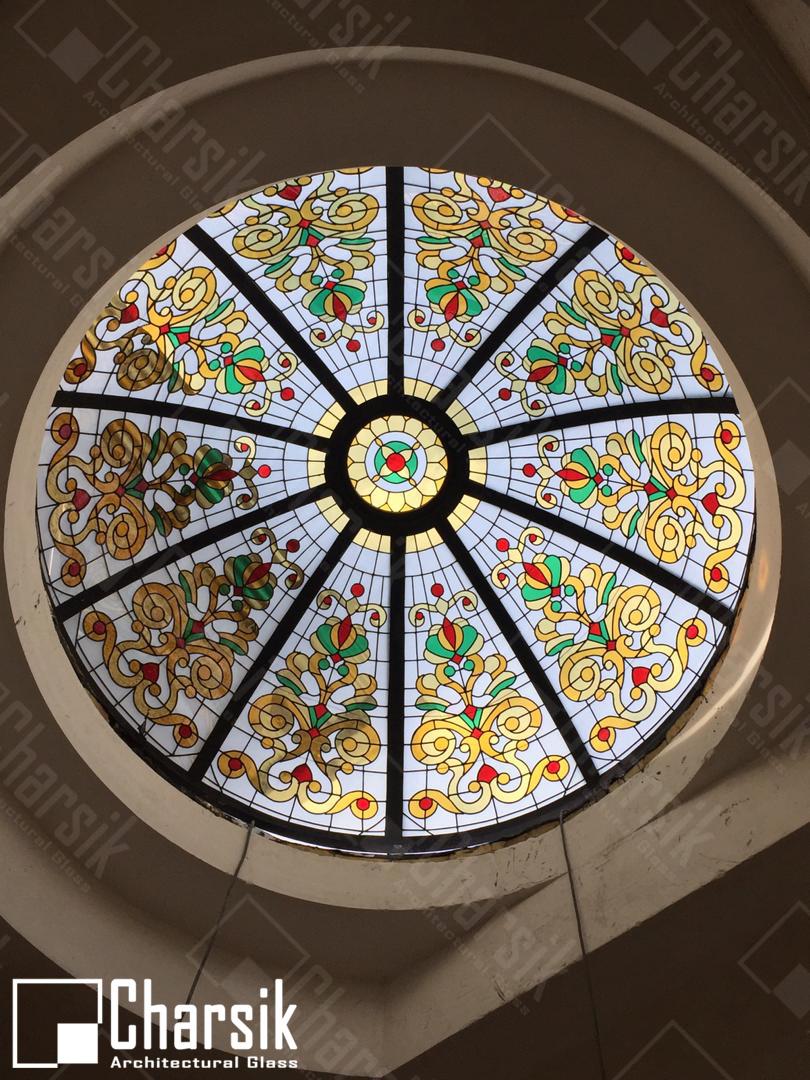 سقف شیشه ای منحنی