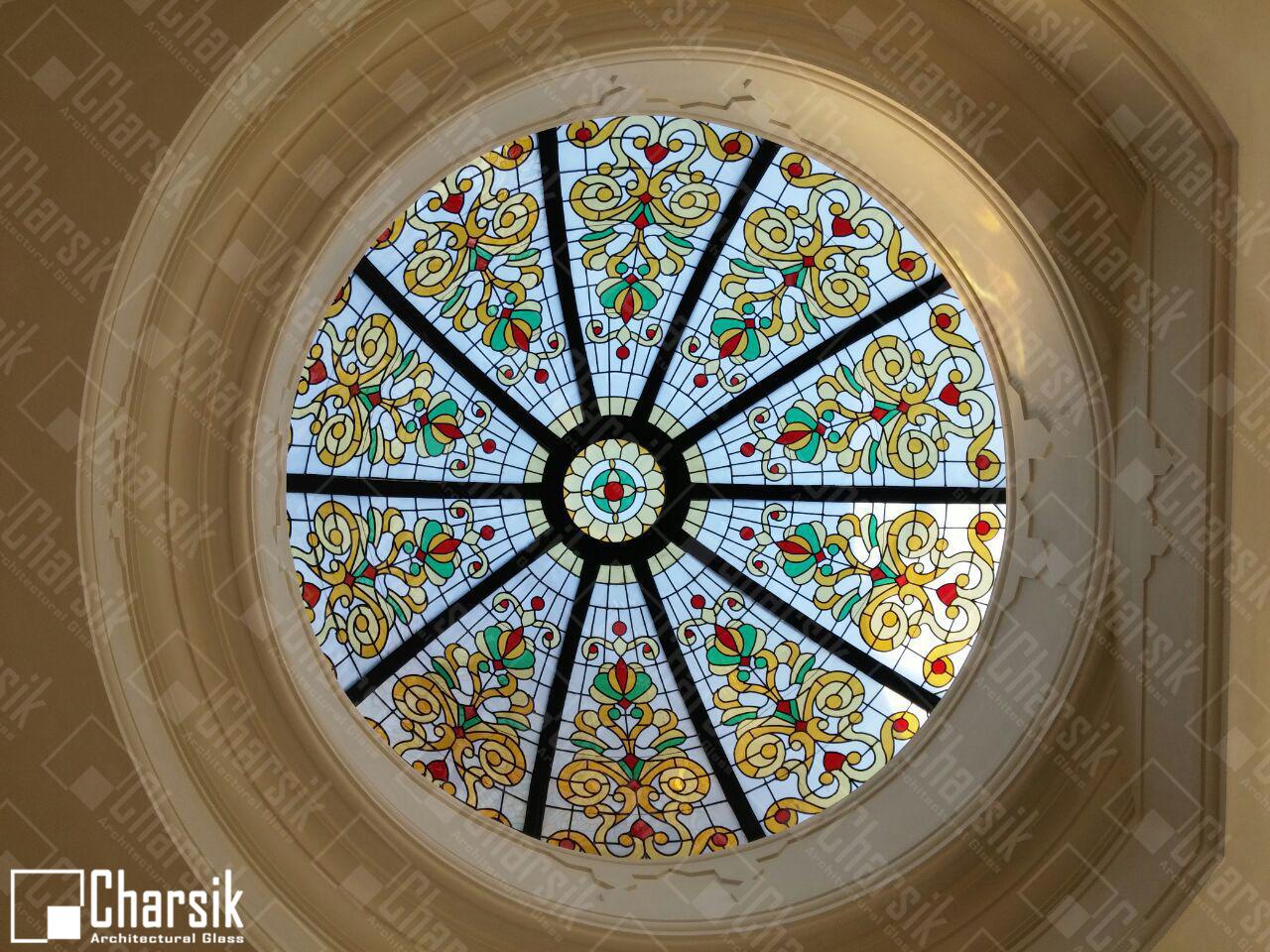 سقف شیشه ای منحنی رنگی چارسیک