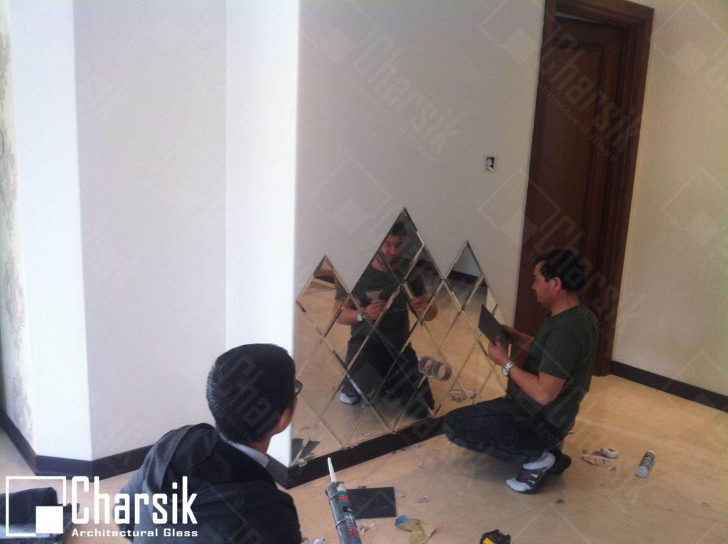 نصب آینه تراشدار