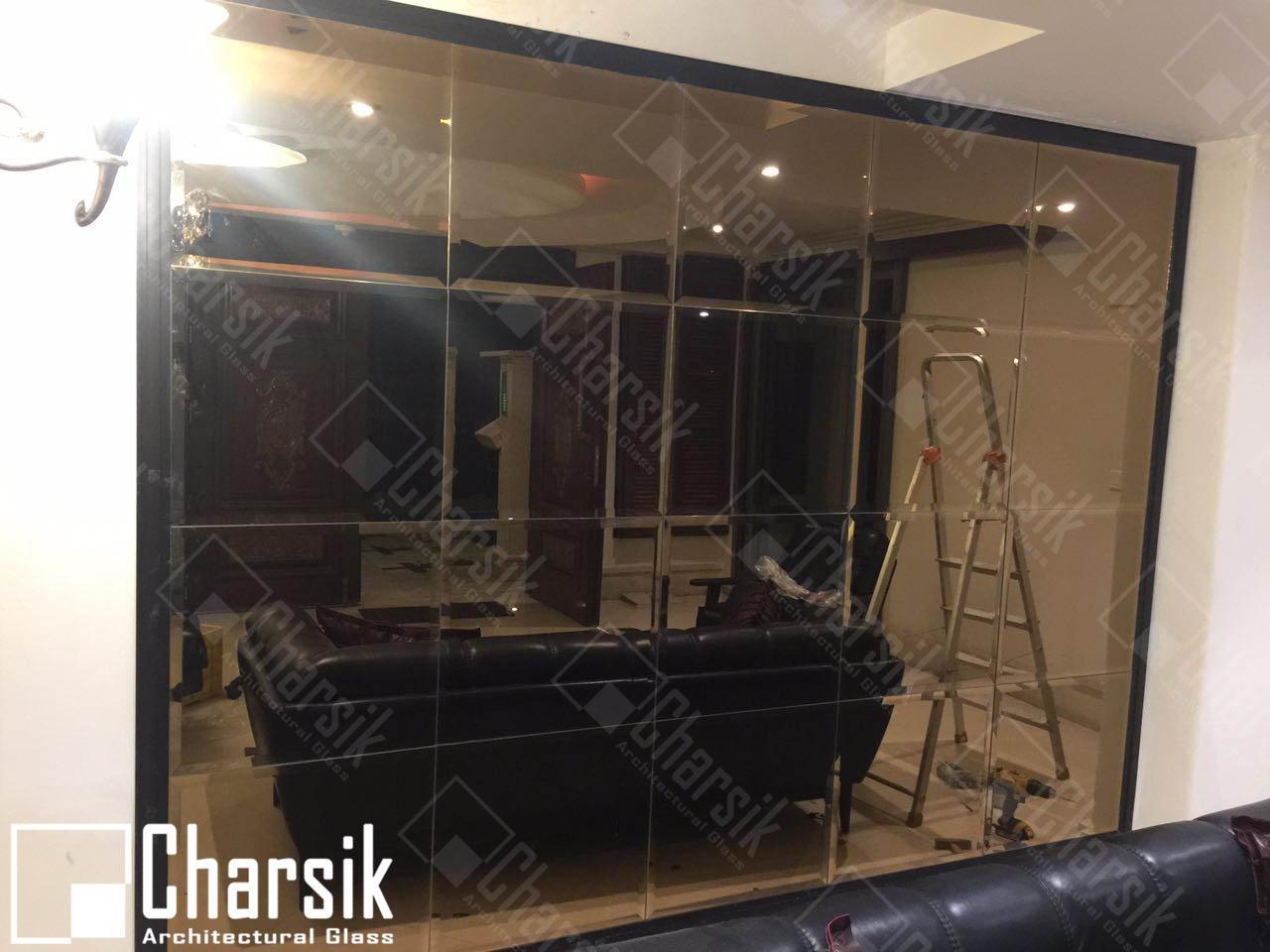 آینه دیواری تزئینی ابزار خورده چارسیک