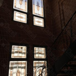 شیشه درب لابی استین گلاس