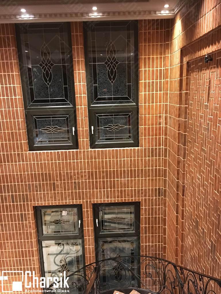 شیشه درب و پنجره تزئینی