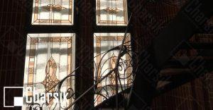 شیشه درب و پنجره تزئینی لابی