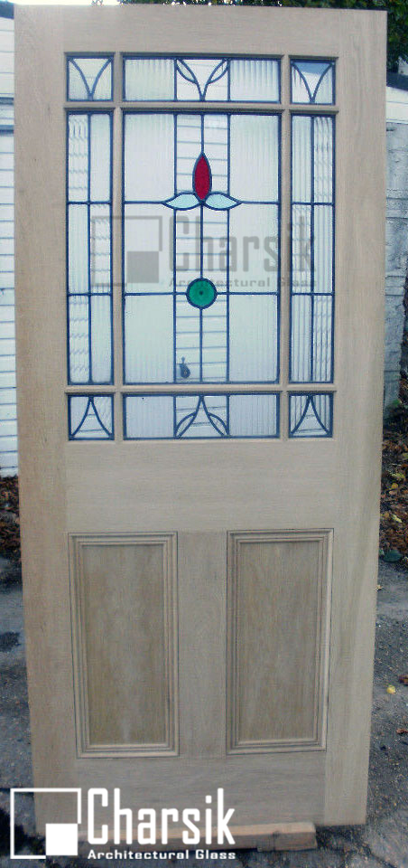 درب لابی تزئینی شیشه خور
