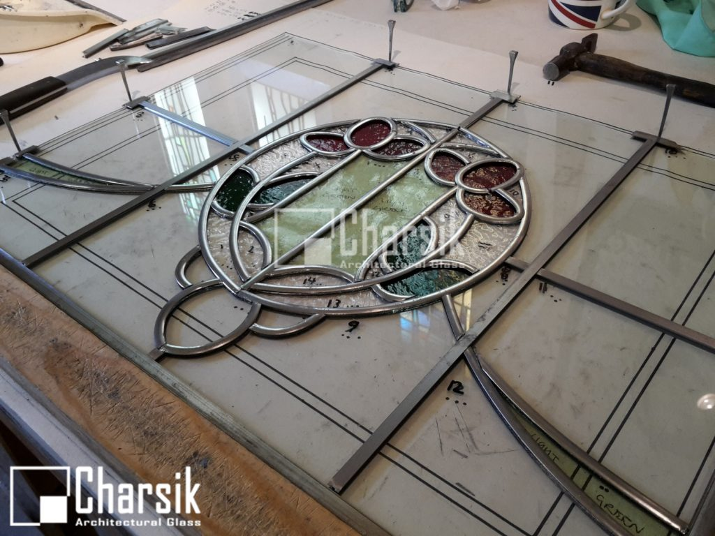 شیشه استین گلاس تزئینی