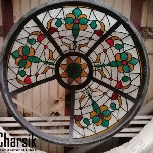 سقف شیشه ای نورگیر تزئینی