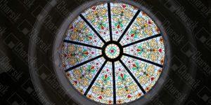 گنبد شیشه ای نورگیر سقفی لوکس رنگی