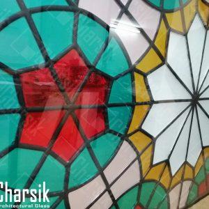 تیفانی لدکیم کاپرفویل شیشه رنگی