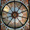 سقف نورگیر شیشه ای تزئینی