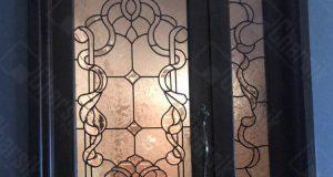 شیشه تزئینی درب ورودی چارسیک