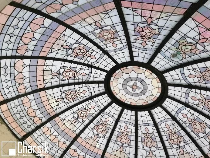 طراحی و ساخت گنبد شیشه ای استین گلس با متریال های استاندارد