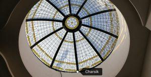 گنبد شیشه ای تزئینی نورگیر سقفی مدرن و کلاسیک