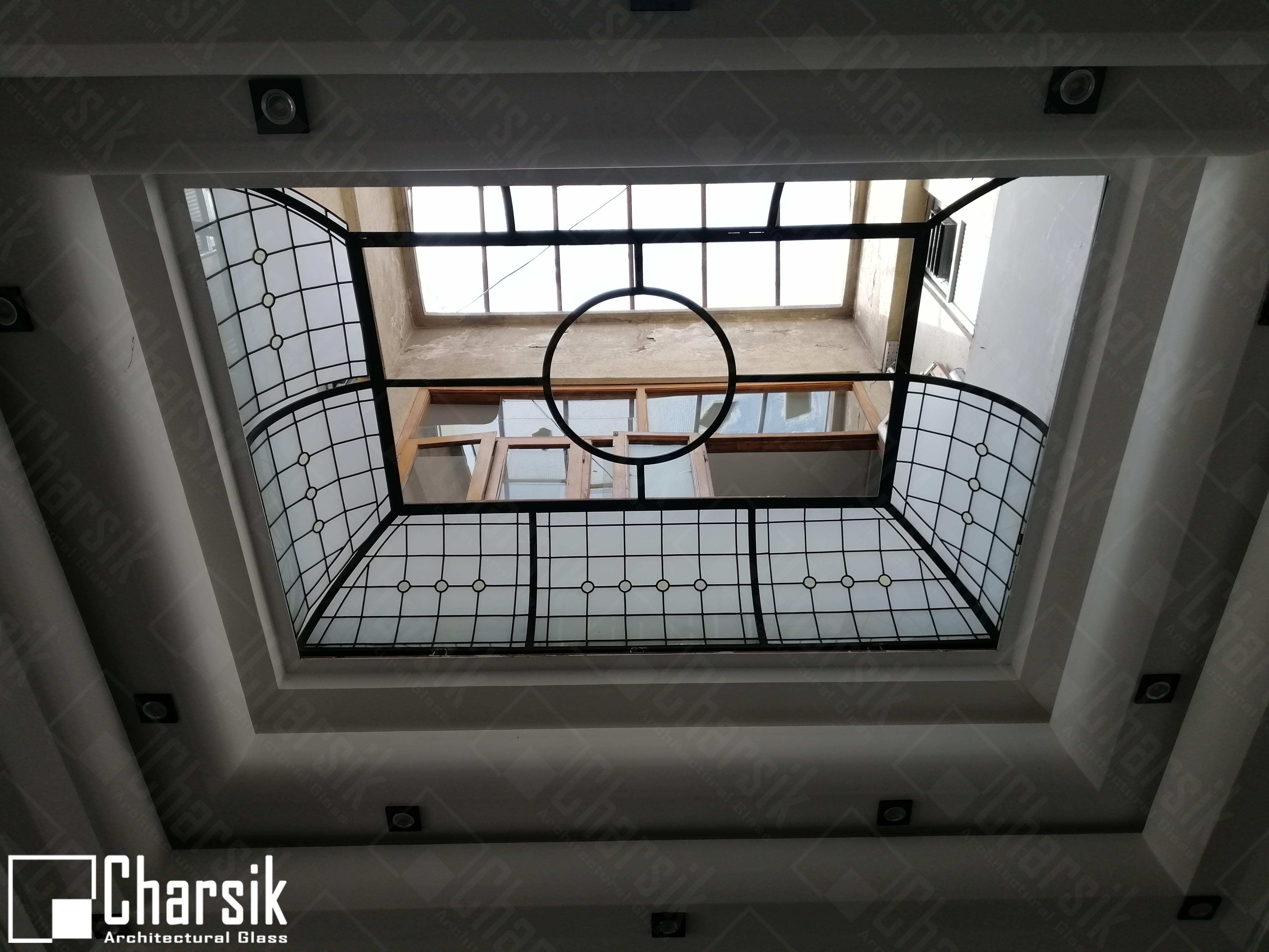 سقف شیشه رنگی لوکس جردن چارسیکر