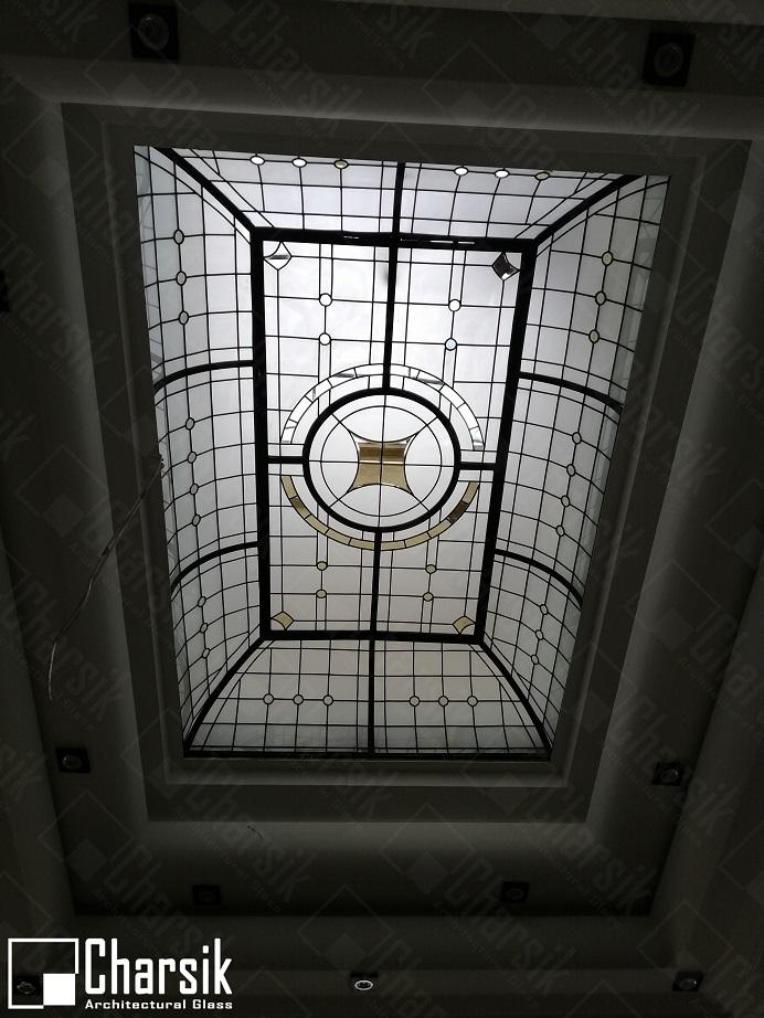 سقف شیشه رنگی زیبا جردن چارسیک