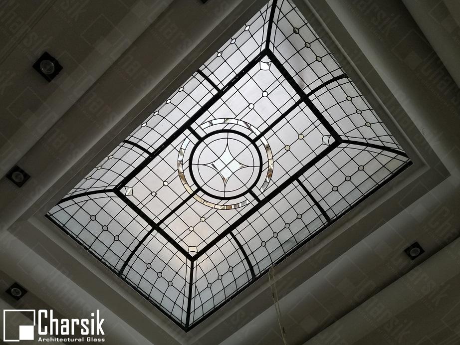 سقف نورگیر شیشه ای تزئینی چارسیک جردن
