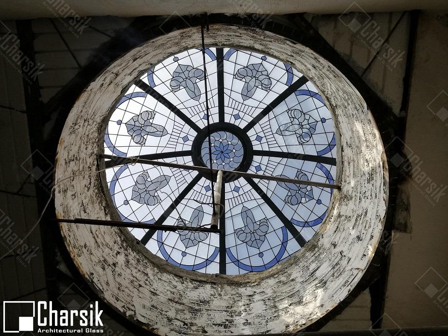 نورگیر سقفی گنبدی تزئینی و دکوراتیو