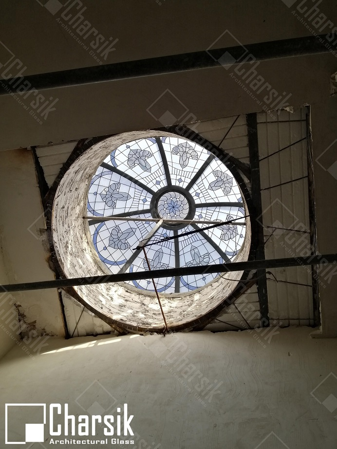 نورگیر سقفی گرد تزئینی