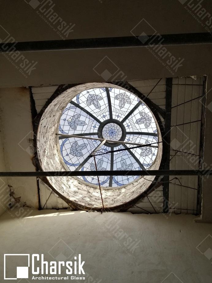 سقف نوگیر دایره ای شکل مدرن