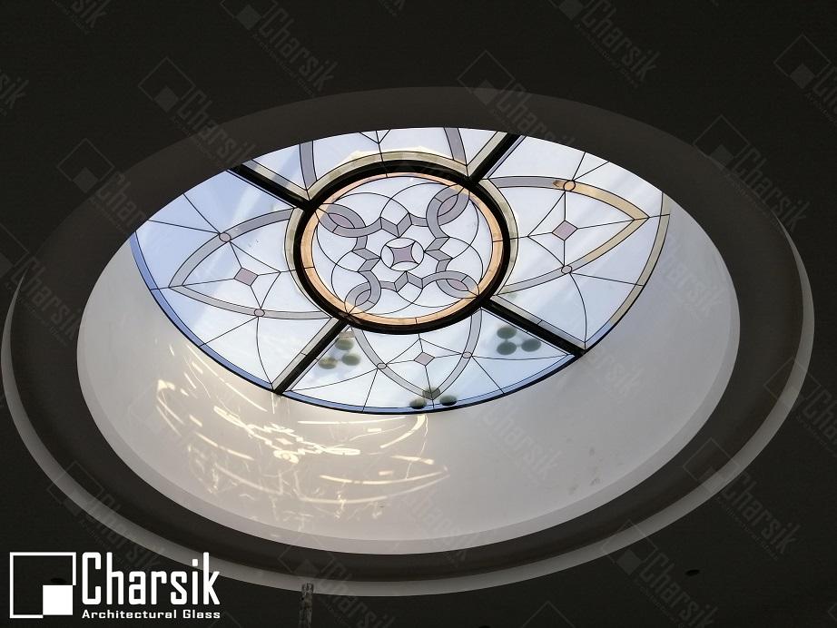 شیشه تزئینی سقف و درب