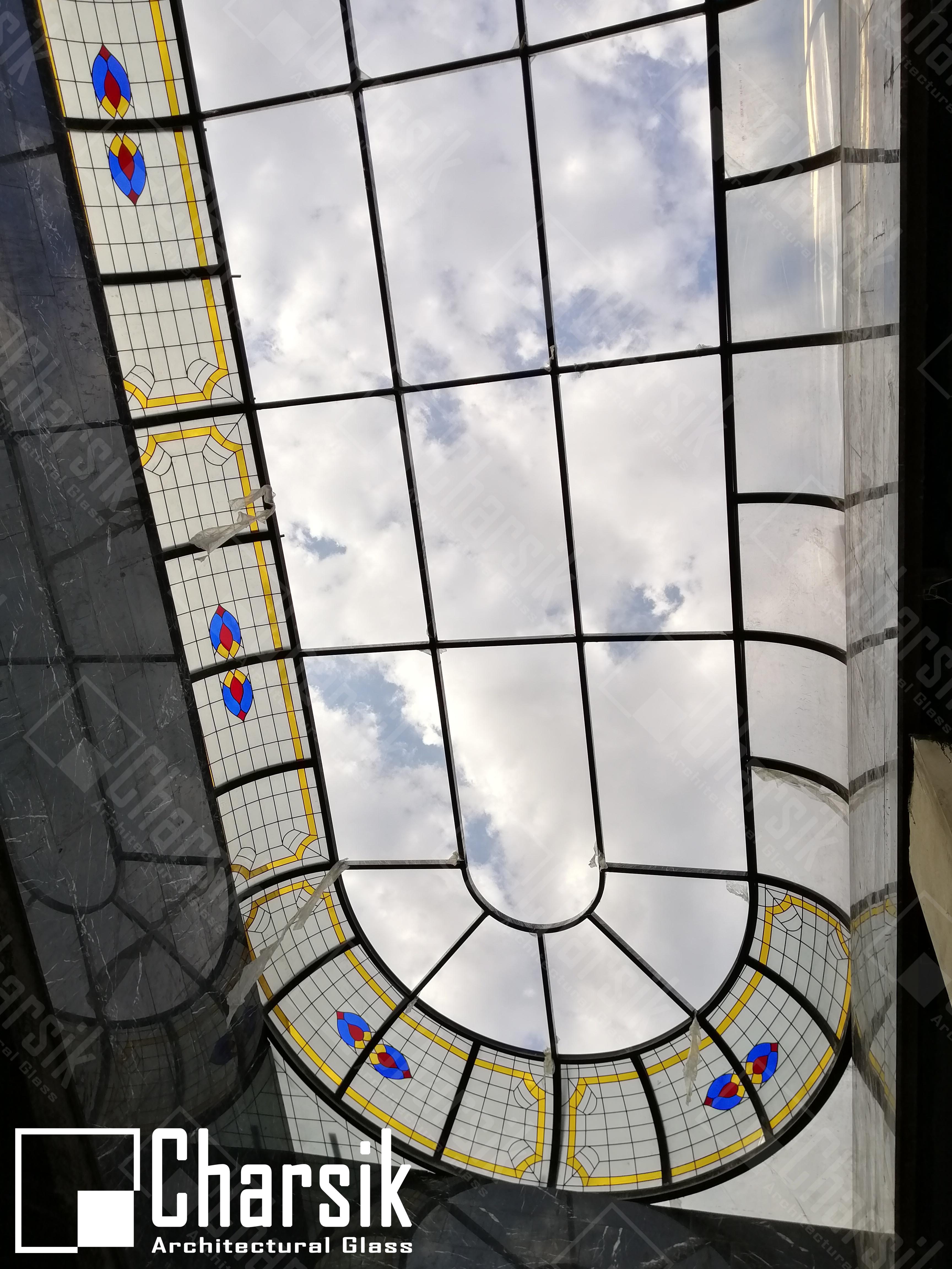 نورگیر شیشه ای چارسیک تهران فرشته