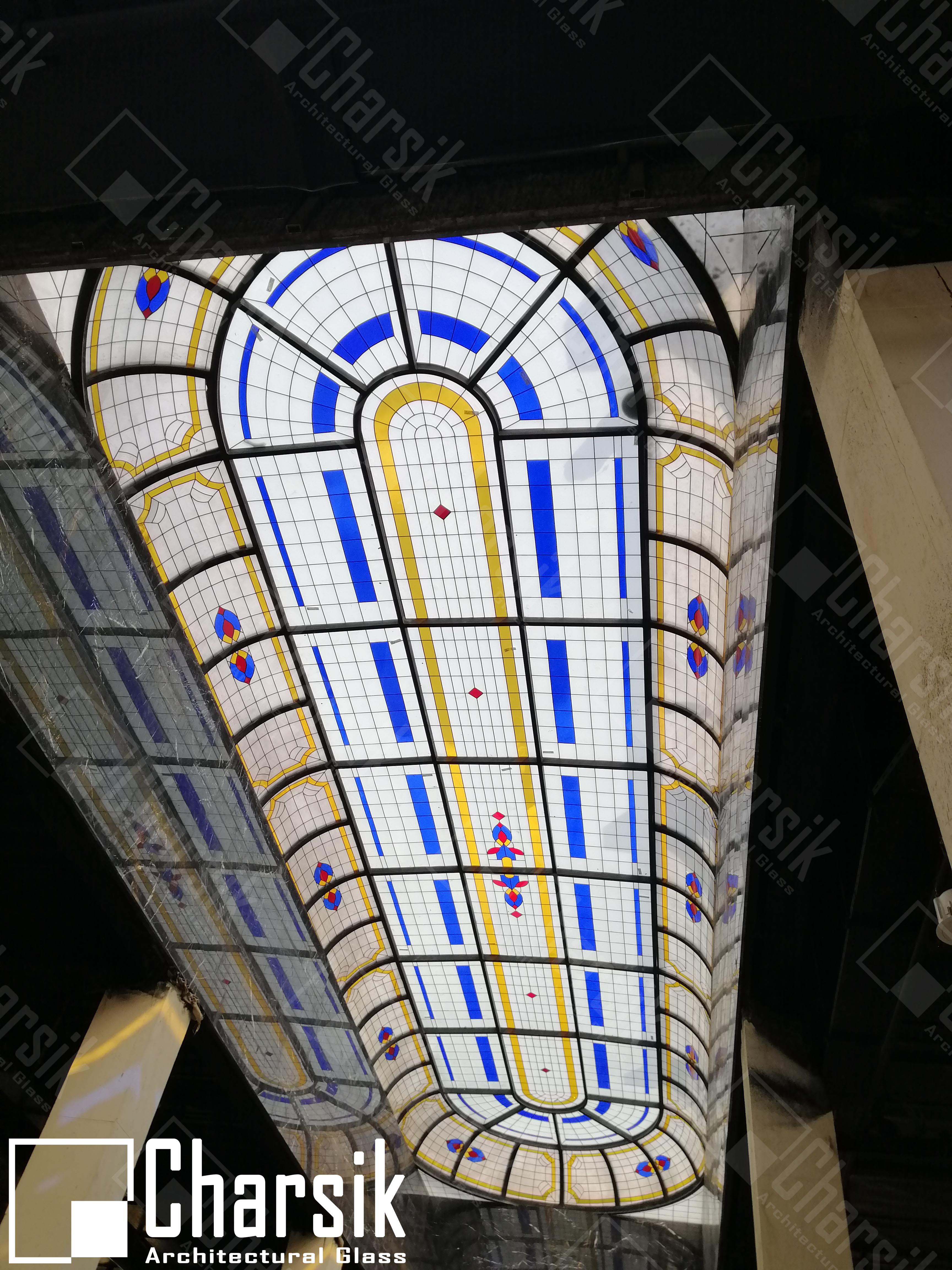 طراحی و ساخت بزرگترین سقف شیشه ای ترکیبی استیند گلس در خاورمیانه