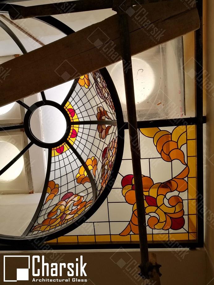 گنبد شیشه ای سقفی آب بندی شده چارسیک