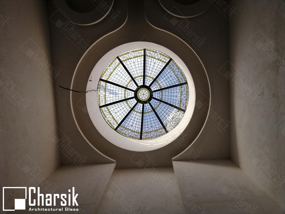 سقف گنبدی شیشه ای لوکس و تزئینی