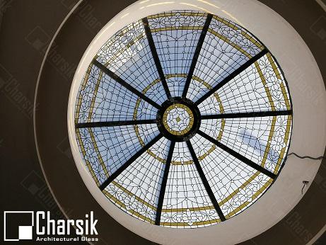 گنبد شیشه ای نورگیر سقفی استیند گلس چارسیک
